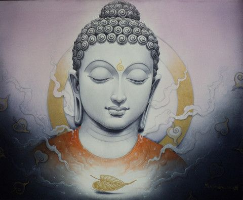 Namo Buddha by Manish Verma. This is a ready-to-hang high quality print on…