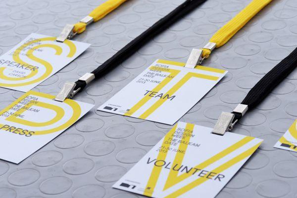 Sofia Design Week - 2013 Badges by Ivaylo Nedkov, via Behance