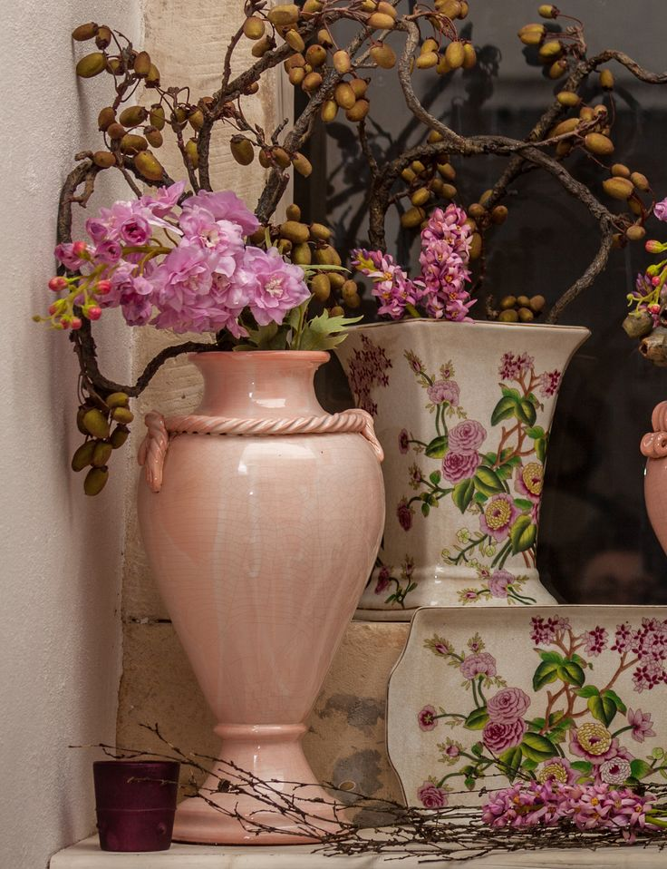 First flowers of Spring. Magical Pink Luxury Vases - Buy Now - Available only at Chic Ville