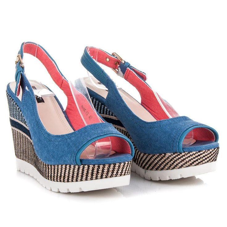 Klinové sandále 6105-13D.BL