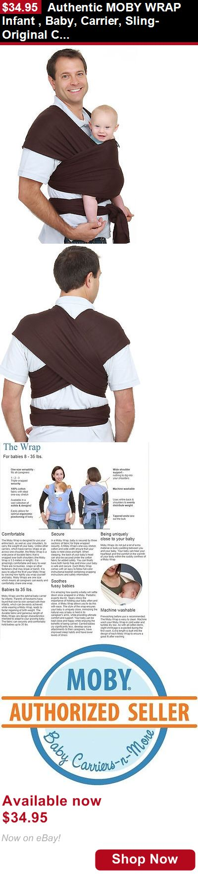 Baby Carriers and Slings and Backpacks: Authentic Moby Wrap Infant , Baby, Carrier, Sling-Original Collection-Chocolate BUY IT NOW ONLY: $34.95