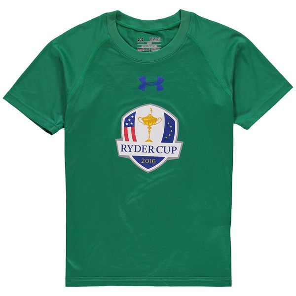 2016 Ryder Cup Under Armour Youth Tech Performance T-Shirt - Kelly Green - $23.99