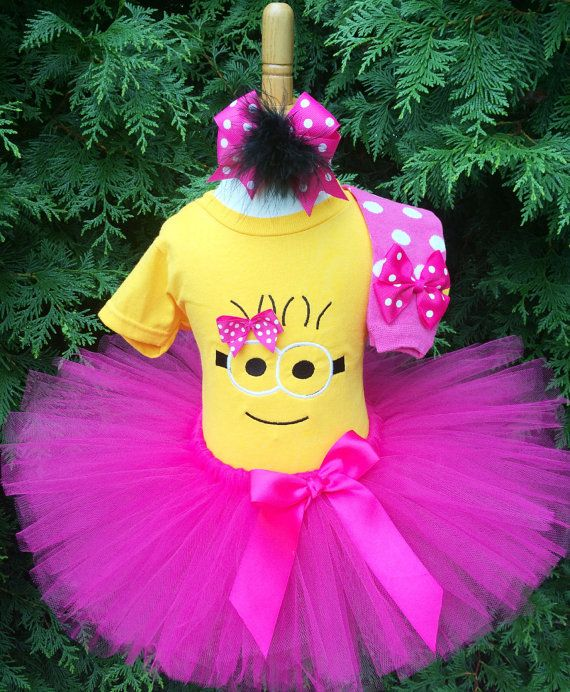 Hey, I found this really awesome Etsy listing at https://www.etsy.com/listing/245927627/minion-tutu-dress-girl-minion-costume