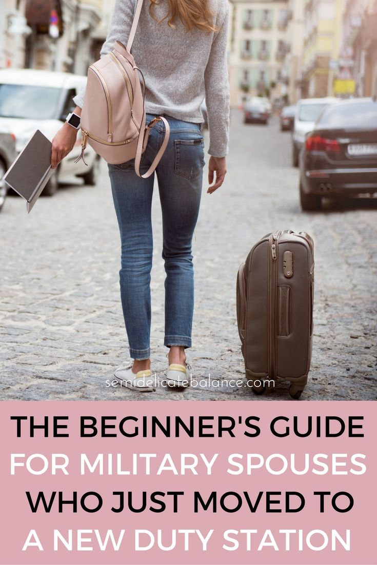 Save this for when we PCS, The Beginner's guide for military spouses who just moved to a new duty station.