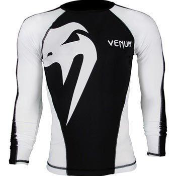 Venum Giant Long Sleeve Rashguard - Black-White