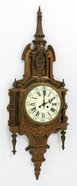 Louis Xvi Style Gilt Bronze Cartel Clock