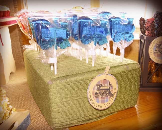 train birthday party dessert table
