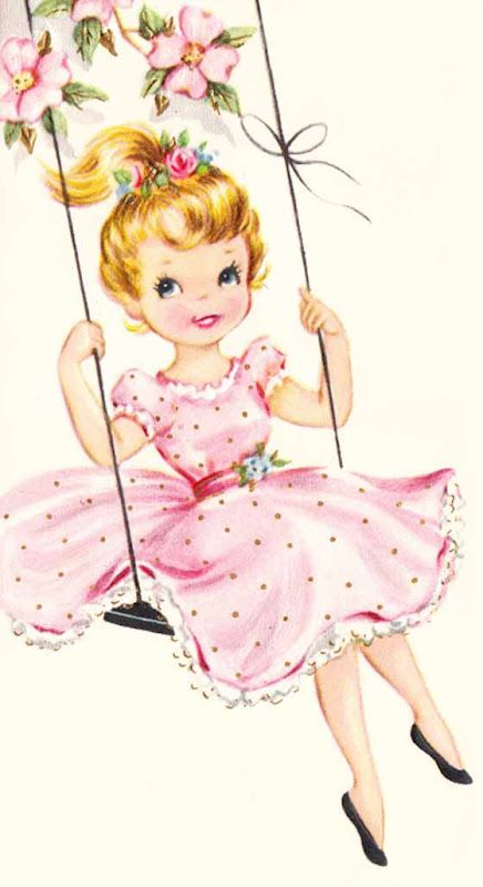 Just swinging by to say... #vintage #illustrations #cute