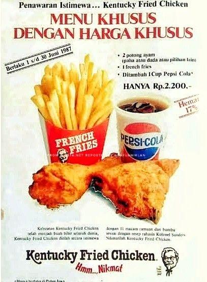 KFC Indonesia - menu khusus harga khusus di 2020 | Kfc ...