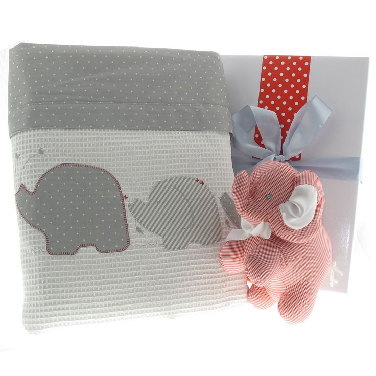 Gorgeous baby elephant design personalised baby gift hamper