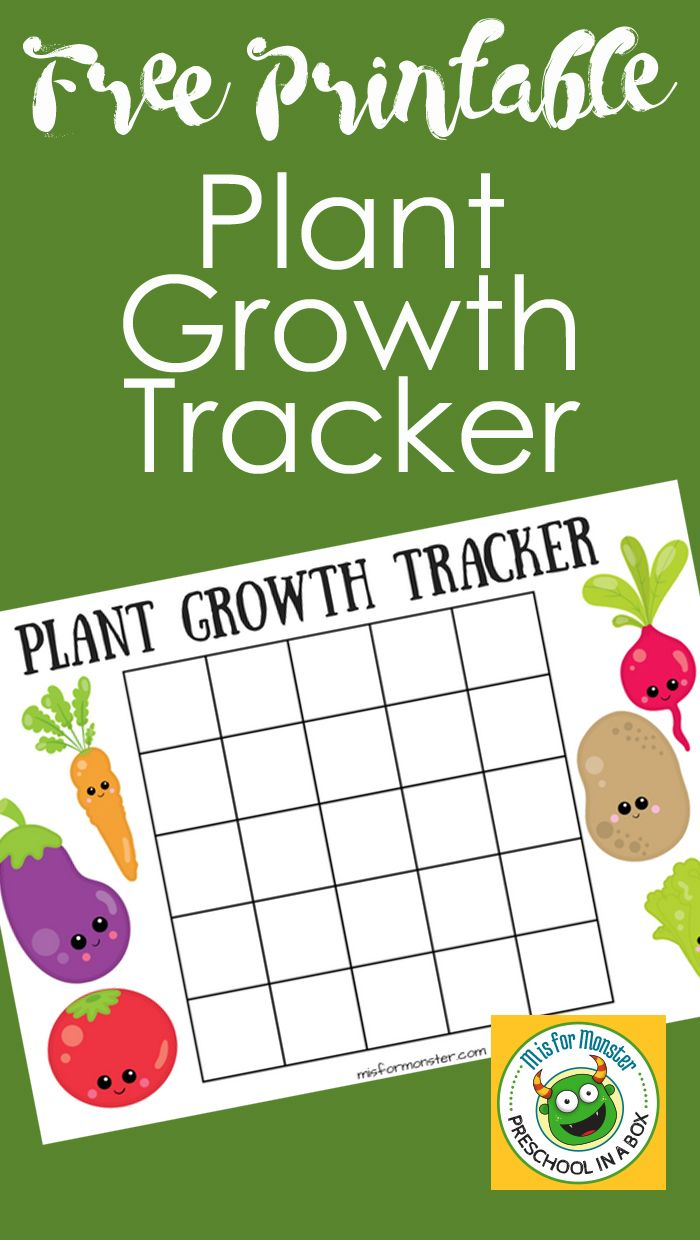 Printable Plant Growth Chart For Kids Encourage Your Children To Learn About Gardening While They Watch Their Flowers And Plants Grow