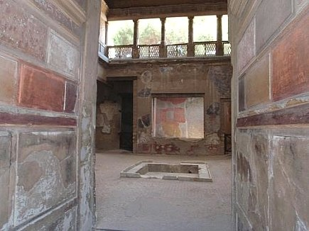 First Style Wall Painting In The Fauces Of The Samnite House Herculaneum, Sa...