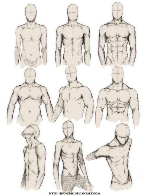 "teacupballerina: "" gazmonster: "" whisker: "" youngartist-city: "" Different Male Bodies. "" wow ironically i was talking about this today or something? yesterday i think. maybe. "" One day one day I will..."