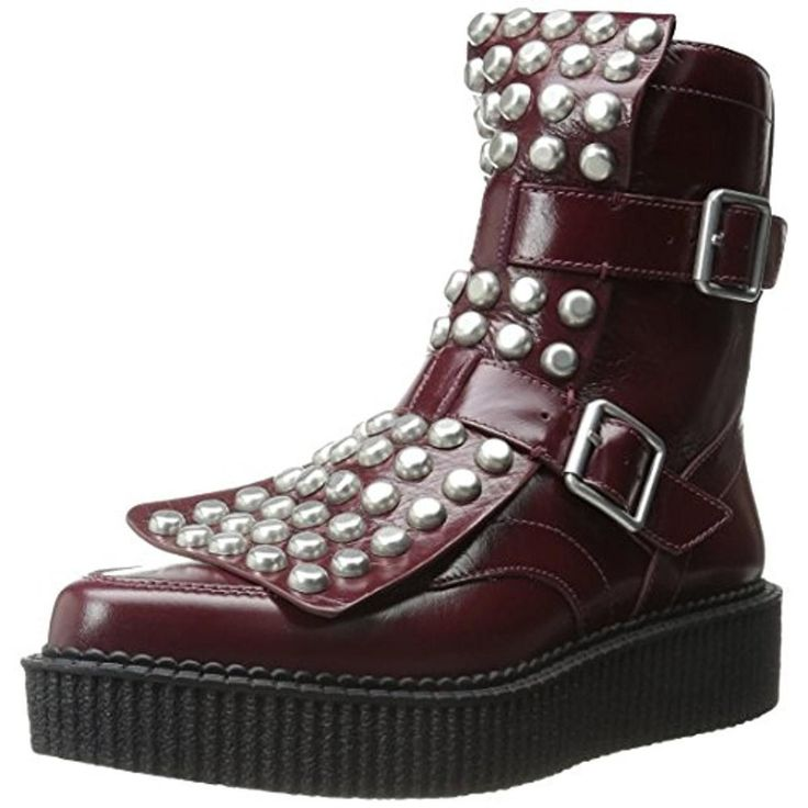 Marc by Marc Jacobs Womens Leather Studded Ankle Boots