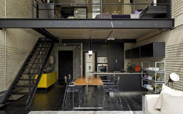 Decoración de viviendas tipo loft de dos pisos