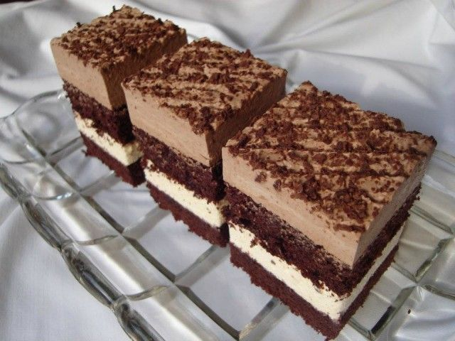 Čokoládovo vanilkové krémové rezy