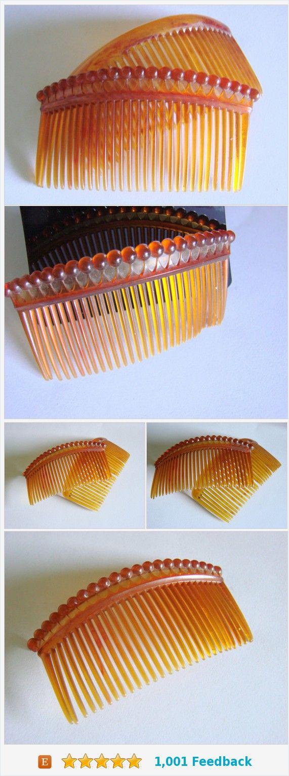 Pair Mid Century Vintage Decorative Hair Combs / Faux Tortoiseshell / Vintage Fashion Combs https://www.etsy.com/JoysShop/listing/554192151/pair-mid-century-vintage-decorative-hair?ref=listing-shop-header-2