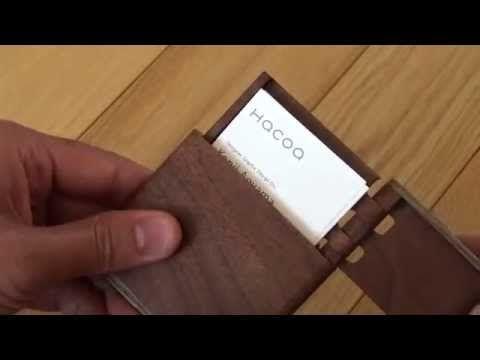 木製縦型名刺入れ・ビジネスカードケースブランド 「縦型名刺ケース」女性にも人気   木製品で手作りオリジナル結婚式、Hacoaウェディング