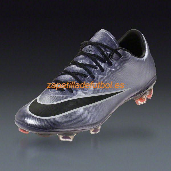 Zapatos de Futbol Nike Mercurial Vapor X FG Para Terreno Firme Urban Lila Brillante Negro Blanco Cromo Mango