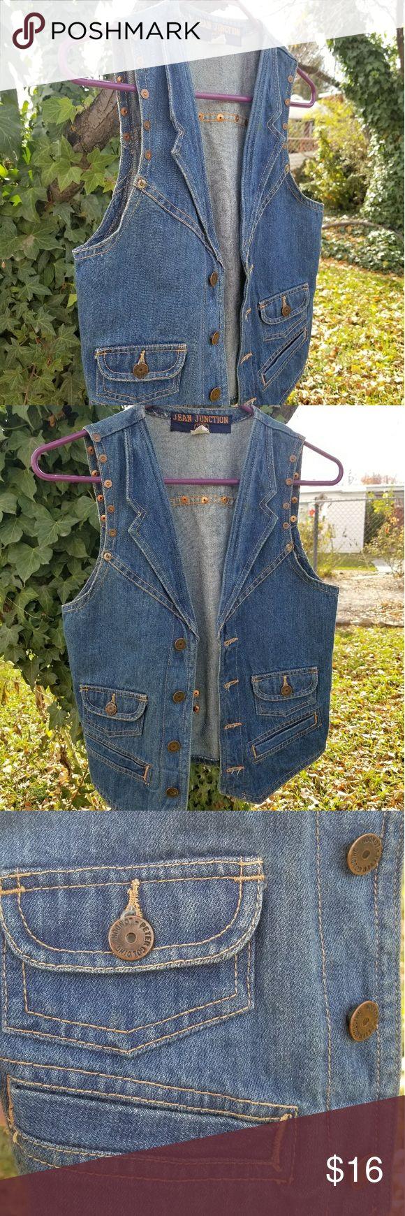 Vintage Denim Vest Denim, Vintage 1970s Jean Junction Peter Golding London, size small. Perfect vintage condition. Peter Golding London Jackets & Coats