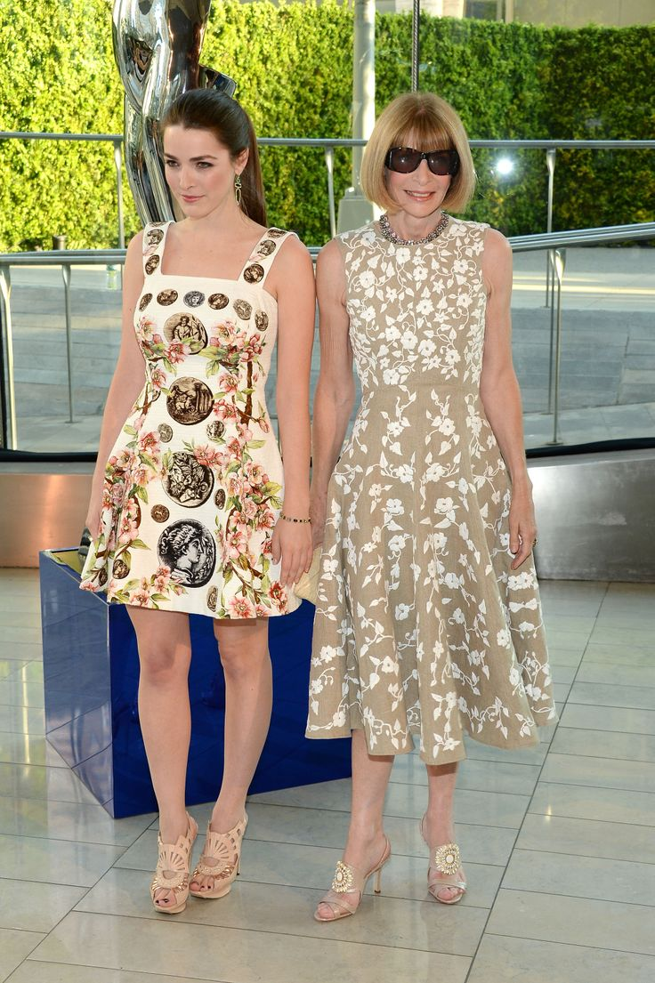 Anna Wintour with her daughter Bee Shaffer (June 2014)