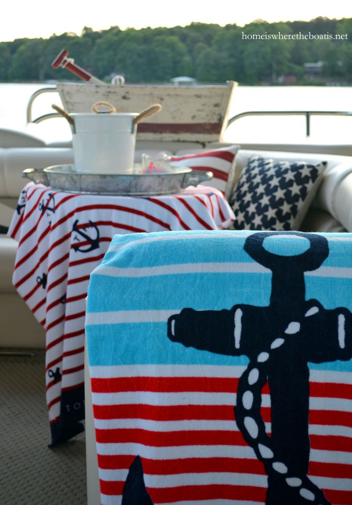 Anchors Aweigh and nautical fun on the pontoon | homeiswheretheboatis.net #boat