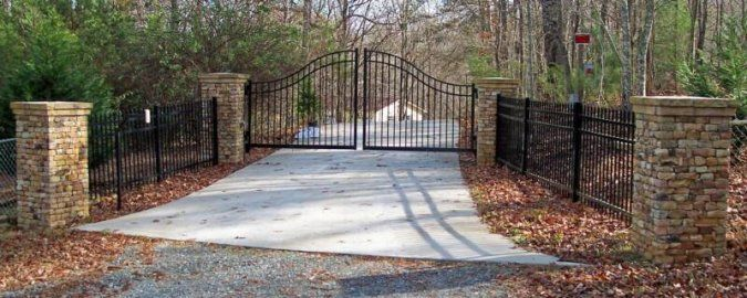 Stone Brick Driveway Entrance Georgia Rock Mason And