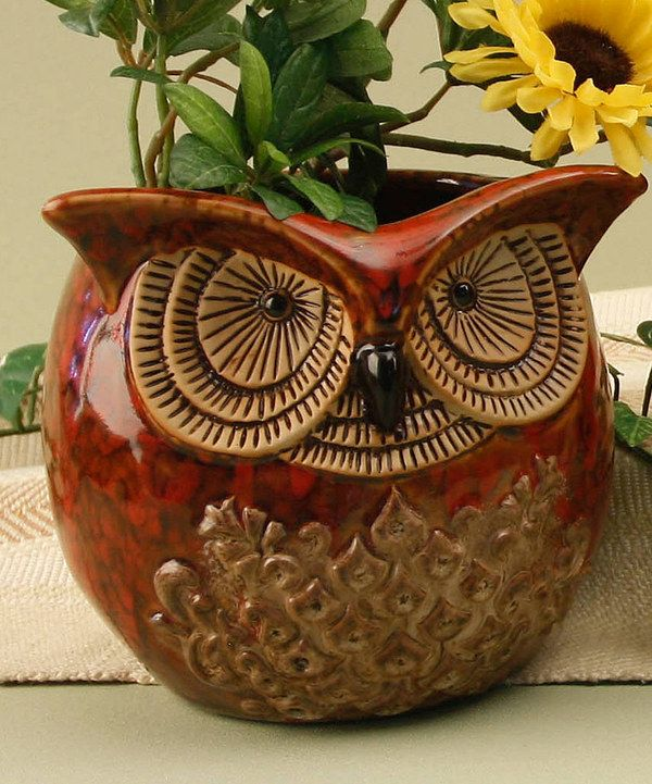 Take a look at this Owl Ceramic Planter on zulily today!