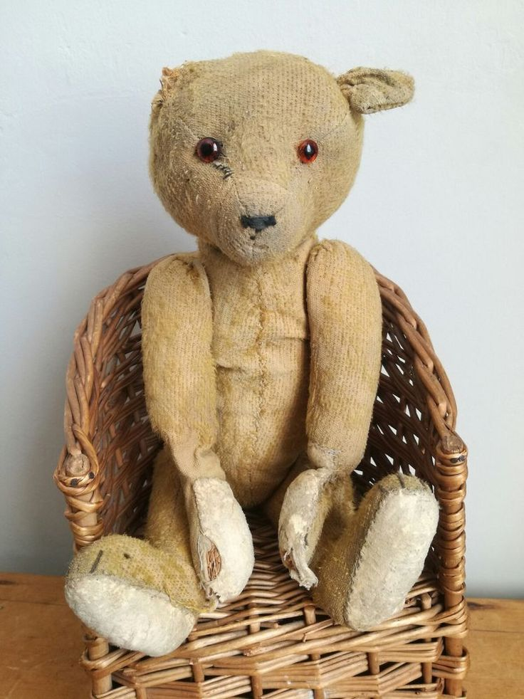 Old Vintage Antique Gold Mohair American German Teddy Bear