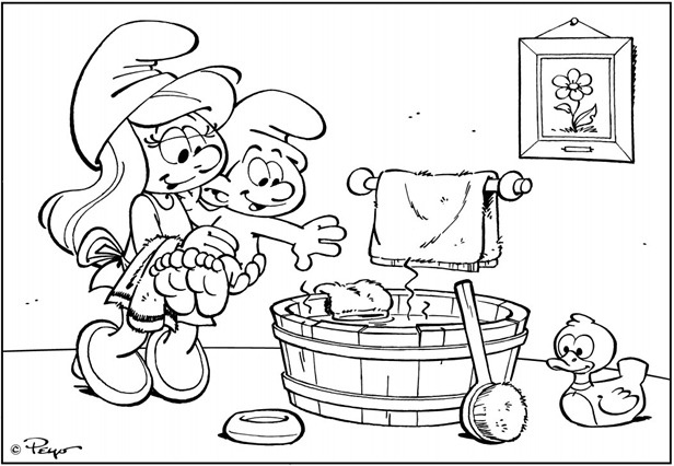 299 best images about the smurfs coloring pages on