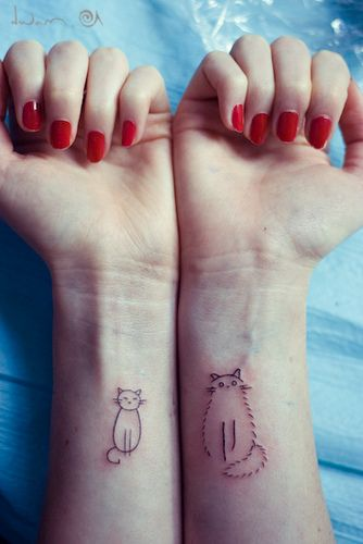 cat tattoos that are simple. Still would not ever get a tattoo. But I have seen an infinity one in white ink that is not too objectionable. Just never for me....