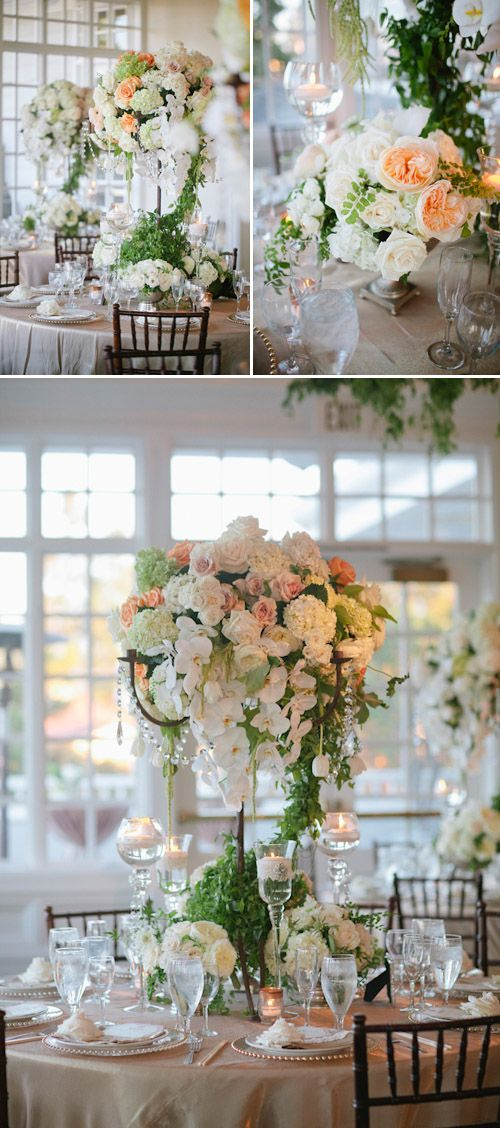 Sparkly peach, apricot, and white wedding at Carmel Mountain Ranch Country Club - photos by Joielala Photographie   junebugweddings.com