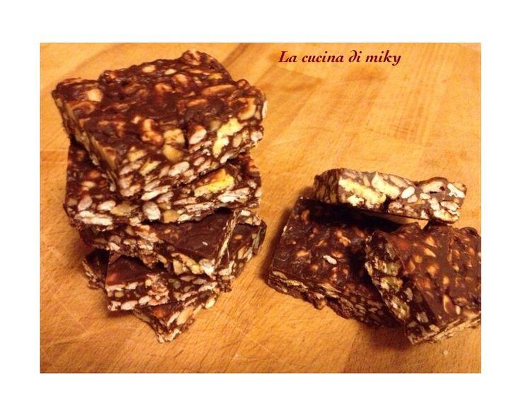 Barrette cioccoriso e nocciole senza glutine