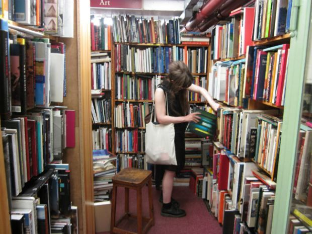 Skoob Books, Russell Square, London: perfect for rummaging!
