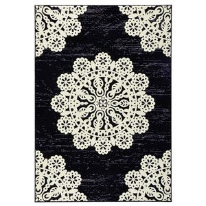 Černý koberec Hanse Home Gloria Lace, 120 x 170 cm