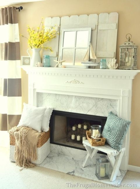 Cottage Or Coastal Themed Mantel Fireplaces Mantles
