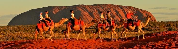 Uluru (Ayers Rock) Camel Tour at Sunrise by Uluru Camel Tours.