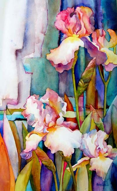 Watercolor Florals-my favorite so far of the Irises I've pinned... =)