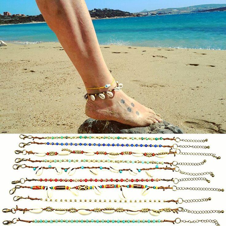 Love lazy days on the beach 👒👙☉👣 Get your anklet on line www.frolicstones.gr  Βραχιολάκια  ποδιού 👣💙👣💚 #frolicstones #madeingreece #instajewelry #jewelrygram #lovejewelry #boholove #bohojewelry #anklet