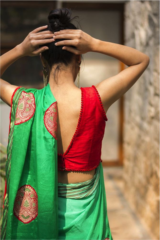 7 incredible blouse designs for silk sarees