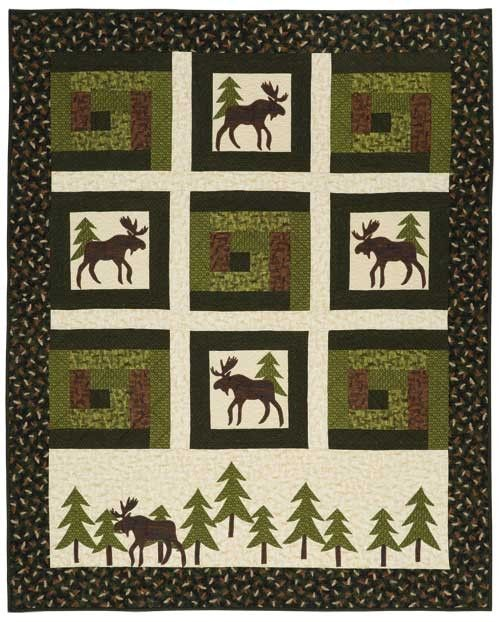 Moose in the Cabin Quilt Kit    Keepsake Quilting
