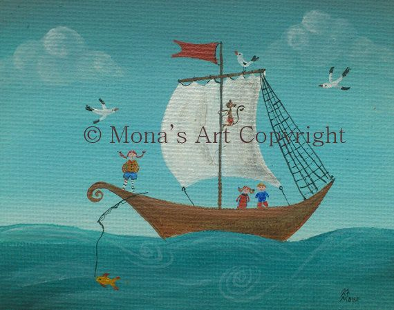Pippi Longstocking original by MonaArtBoutique