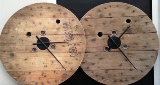 Klok klokken haspel haspelklok zwarte wijzers