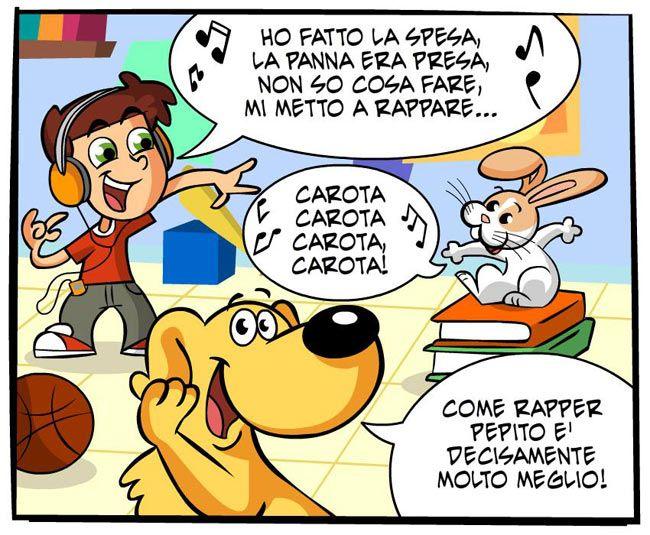 Pepito rap! | Fumetti Gli Inseparabili Friskies (cani, gatti, conigli, animali)