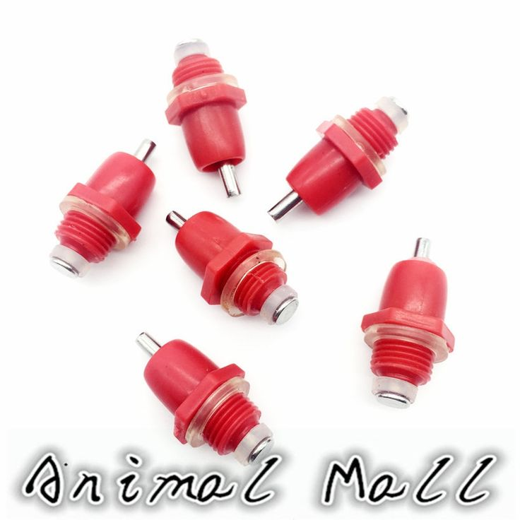 6.94$  Watch here - 60 Pcs Chicken Quail Spring Type Red Nipples Drinking Fountain Chicken Innerspring Poultry Farming Equipment   #magazineonlinewebsite