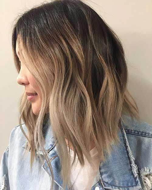 24-Balayage Short Hair 2017 #darkShorthair