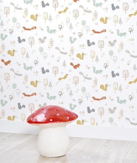 Spécialiste français Papier peint bébé forêt arbres - Salon - Chambre - Cuisine