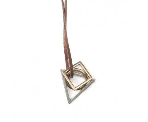 Geometric Necklace - Antique Gold - Jewellery