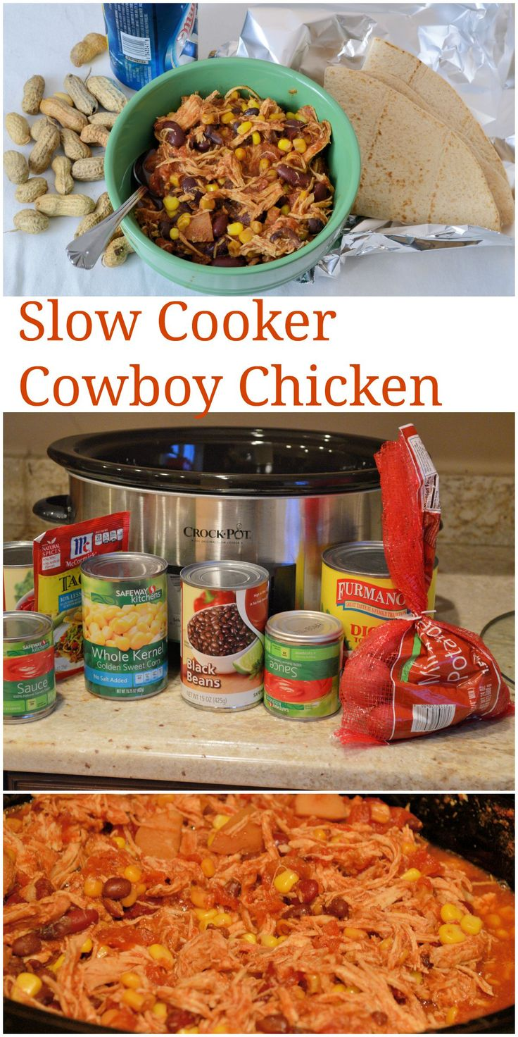 Slow cooker cowboy chicken recipe easy and healthy for Easy healthy chicken crockpot recipes