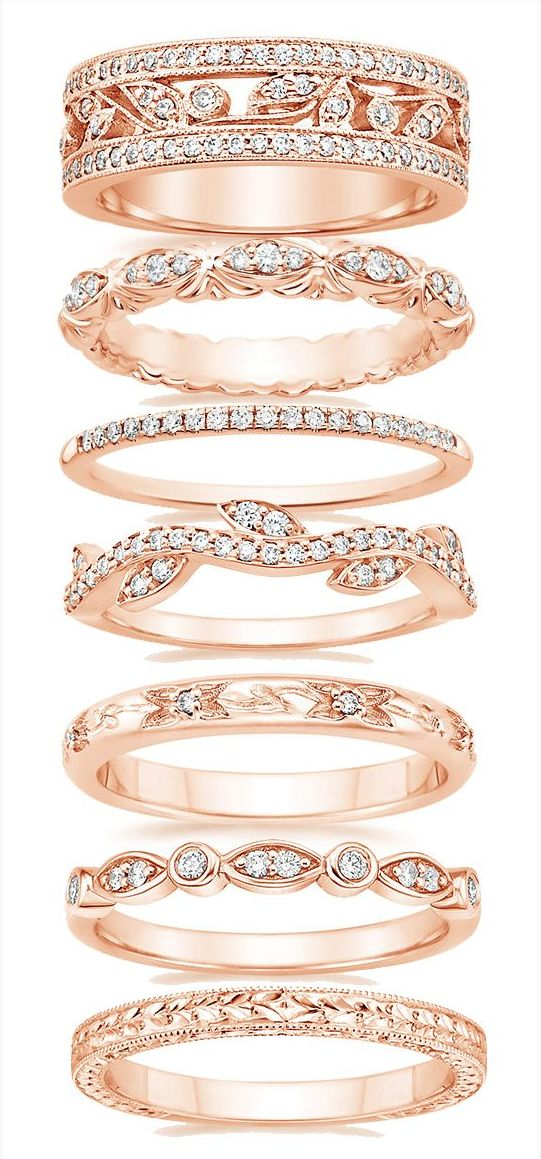 I love these bands, especially the rose gold. I don't like the third from the top so much though. Its too thin.